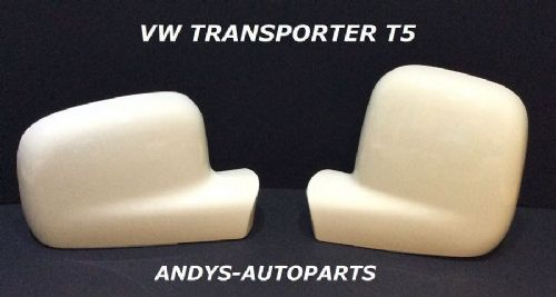 VOLKSWAGEN TRANSPORTER T5 GENUINE PAIR WING MIRROR COVERS 03 -2010 IN GRAUWEISS